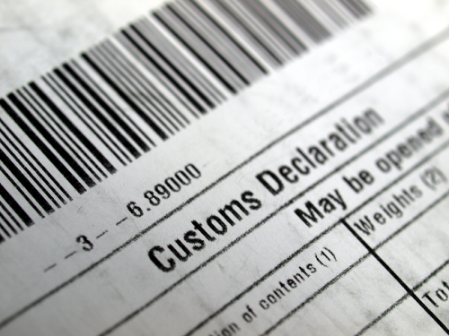 Customs Declaration on Paper image