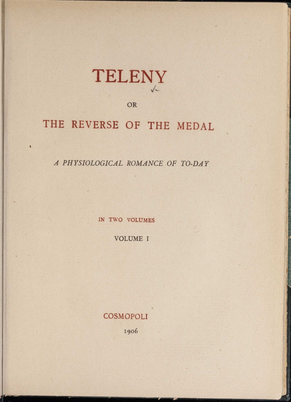 Titlepage of Dawes's 1906 edition of Teleny