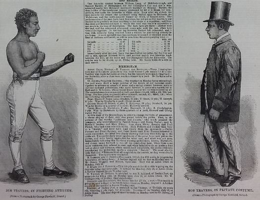 Bob Travers in fighting attitude and private costume, Illustrated Sporting News and Theatrical and Musical Review, 19 July 1862