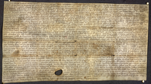 A 9th-century Anglo-Saxon charter, recording a dispute between Archbishop Wulfred of Canterbury, King Coenwulf of the Mercians, and Abbess Cwoenthryth.