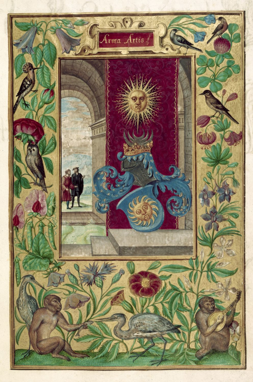 An illustrated page from a 15th-century manuscript of the Splendor Solis.