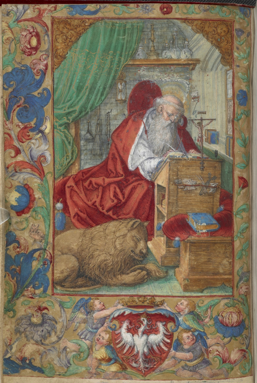St Jerome Add MS 15281 f3v