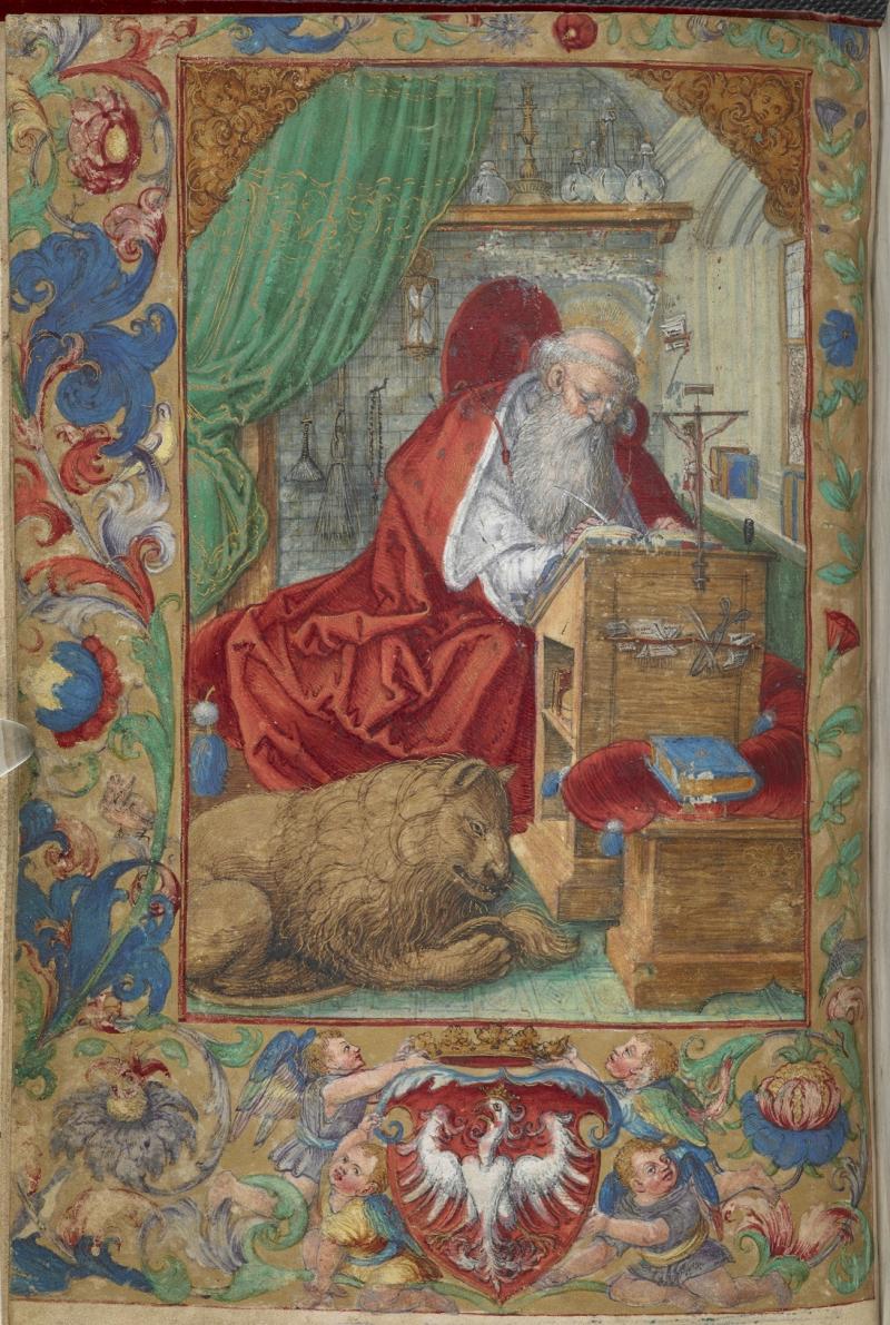 St Jerome Add MS 15281 f3v