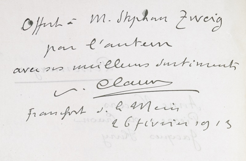 Claudel zweig_ms_139_f002v dedication