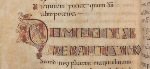 Decorated letters from Alcuin's letter to Charlemagne