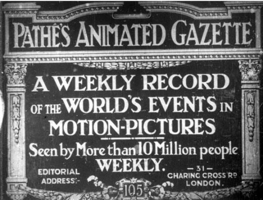 Title image of a 1911 edition of Pathe's Animated Gazette