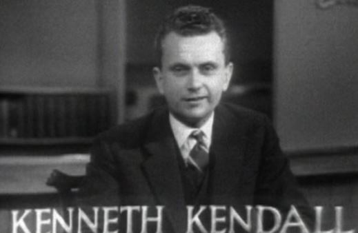 BBC newsreader Kenneth Kendall, 1950s