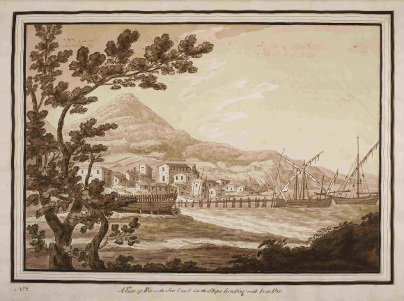 View of Rio on the sea coast 1789