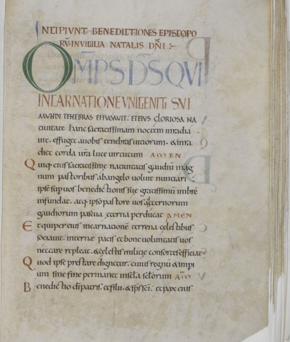 A page of the Anderson Pontifical
