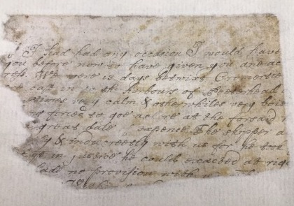 Fragment of a 17th-century letter