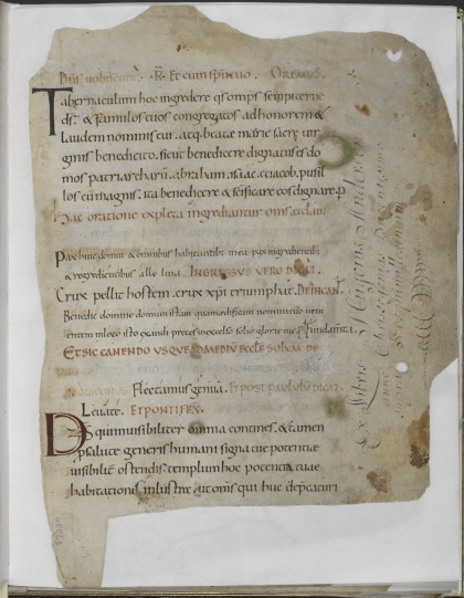 Discovered in a stable: the Anderson Pontifical - Medieval