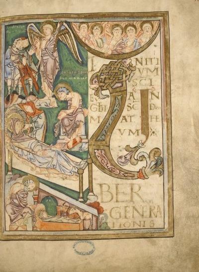 Nativity Scene in the Boulogne Gospels