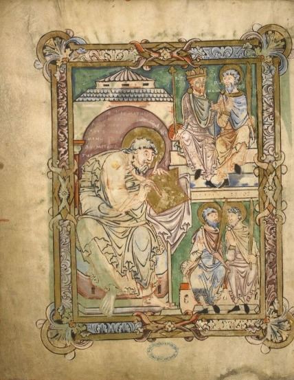 St Matthew and patriarchs from the Boulogne Gospels