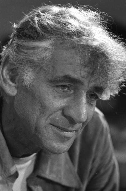 Photograph of Leonard Bernstein in 1971