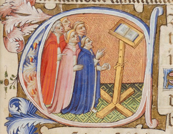 Singing priests in the St. Omer Psalter