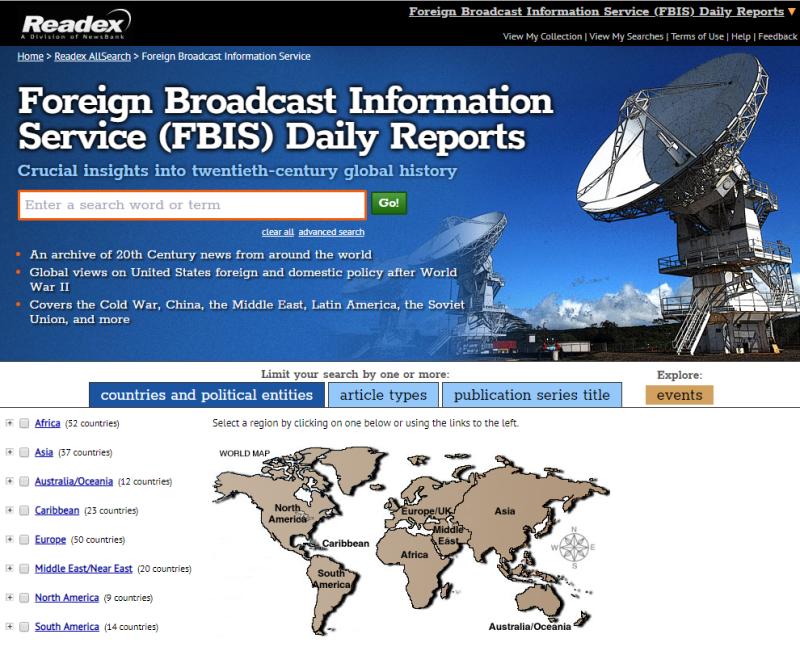 FBIS interface
