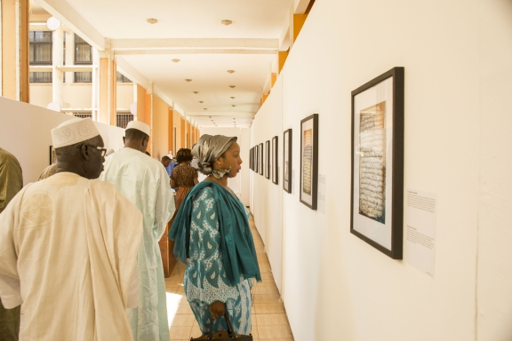 Looking at the images on display in Bamako