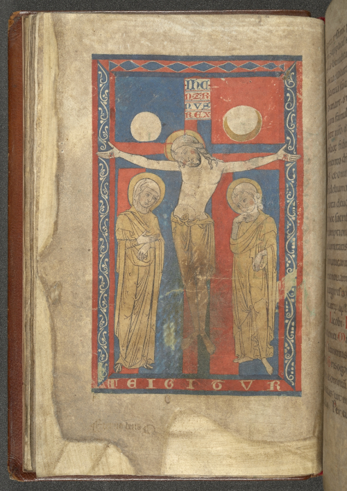 The Crucifixion with Mary and John, from the 'Stavelot Missal'