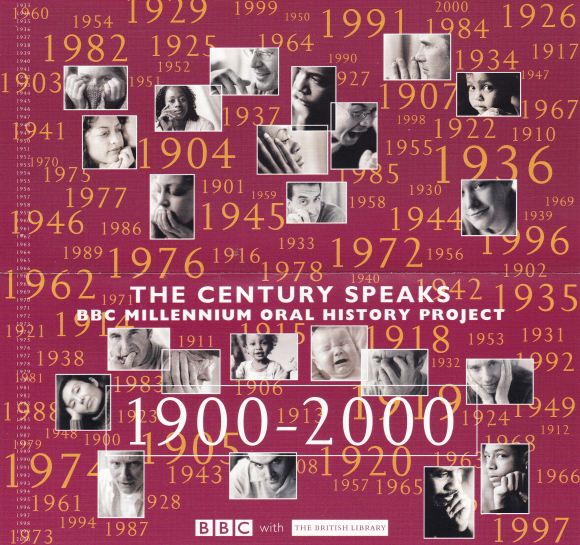 PM recording of the week image The Century Speaks leaflet part cover