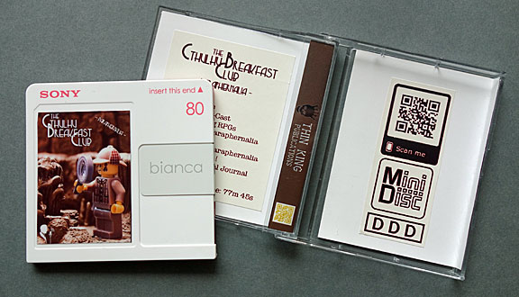 Photo of Paul Maclean's MiniDisc and outer packaging