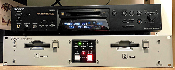 Photo of Paul Maclean's Denon-brand replicating machine