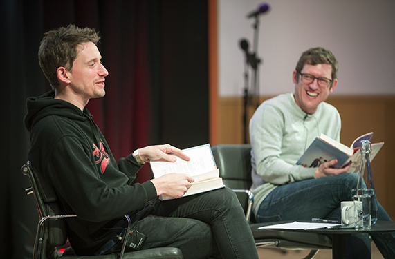 John Robins and Elis James. Photo by George Torode