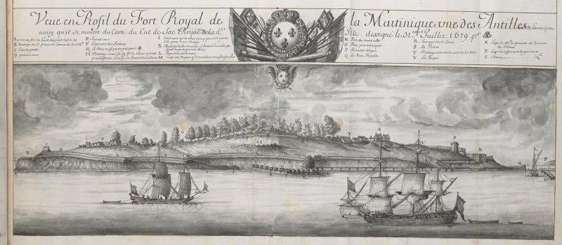 French Caribbean Fort Royal Add. 28788  f.57