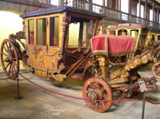 An elaborate 17th-century coach from the Museu Nacional dos Coches in Lisbon