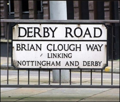 Photograph of a Derby Road street sign