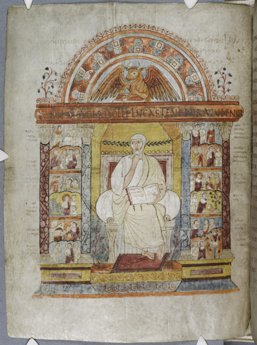 The evangelist portrait of St Luke from the St Augustine Gospels