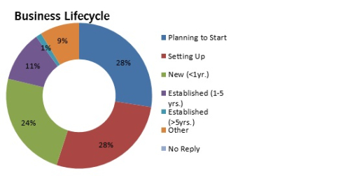 Infographic of Business Lifecycle -Northampton