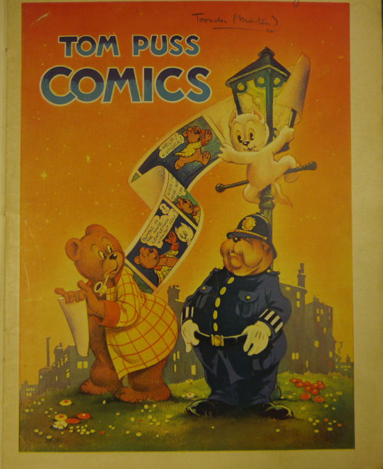 Cover of Tom Puss Comics featuring the different characters