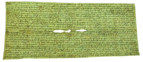 Fonthill letter  earliest surviving letter in English (c) Reproduced courtesy of the Chapter  Canterbury Cathedral