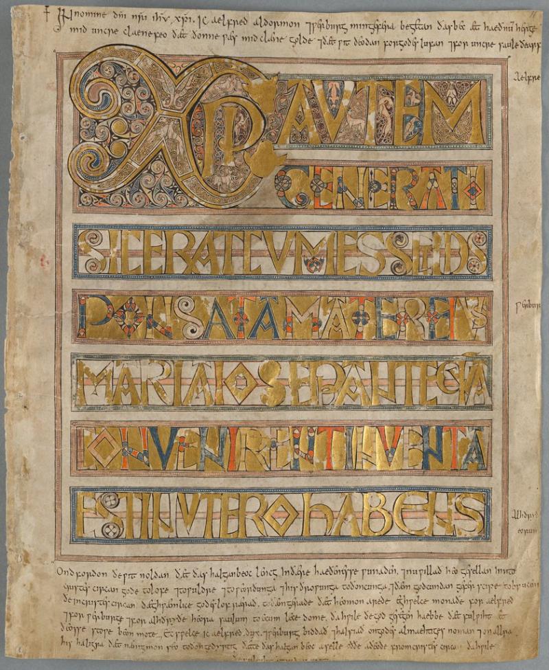 Stockholm Codex Aureus  f. 11r
