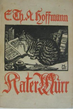Cover of an edition of Kater Murr with an illustration of the cat