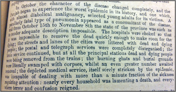 Despatch from the Punjab concerning the influenza pandemic