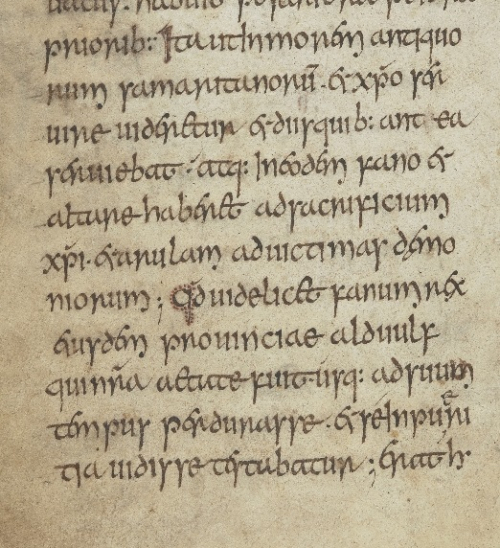 Medieval manuscript of Bede's Ecclesiastical History of the English People