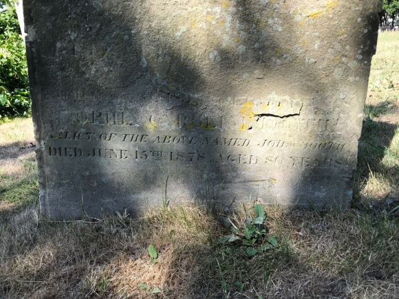 Grave of Sophia Booth at St John's Church Margate