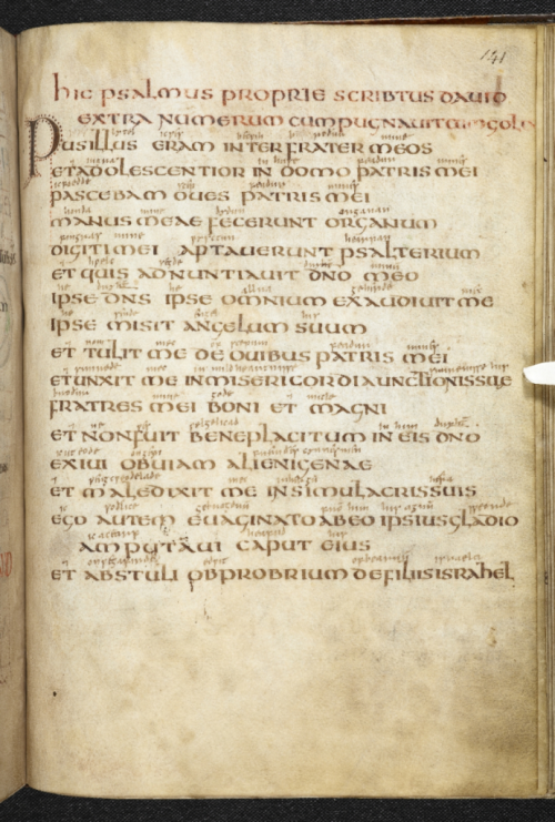 Psalm 151 in the Vespasian Psalter