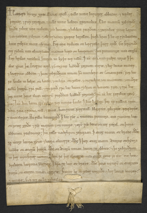 A 12th-century charter purporting to be a writ from Edward the Confessor
