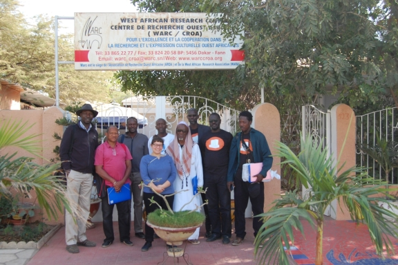 Group photograph in front of the West African Research Center in Dakar