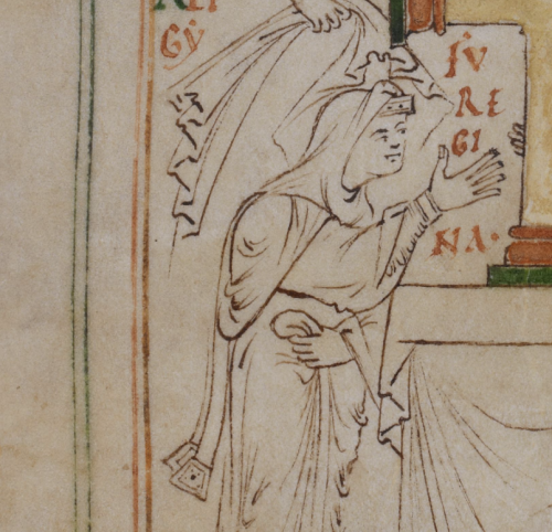 Detail of Emma from the New Minster Liber Vitae