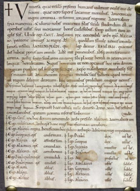 Charter of Queen Emma