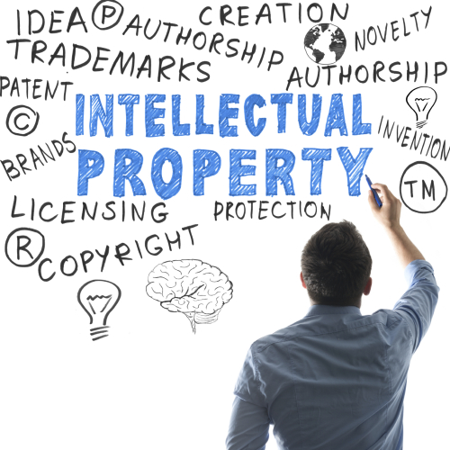 Intellectual Property examples on a storyboard