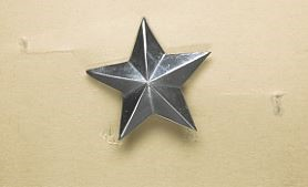 British Colonial Police style five pointed star
