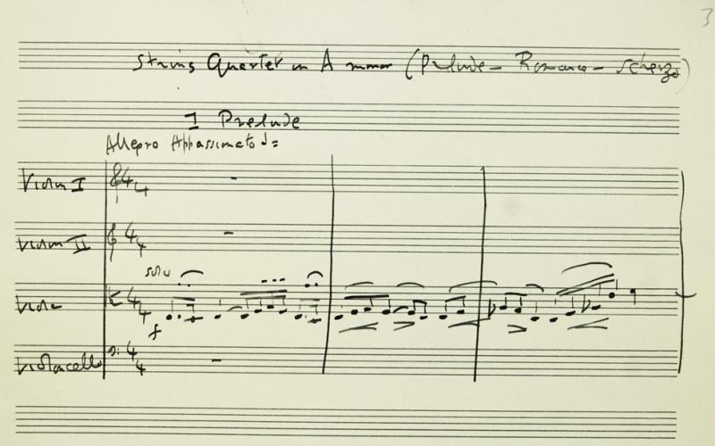 RVW Quartet (MS Mus. 1842) 1