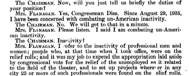 Flanagan and Chair dialoge excerpt