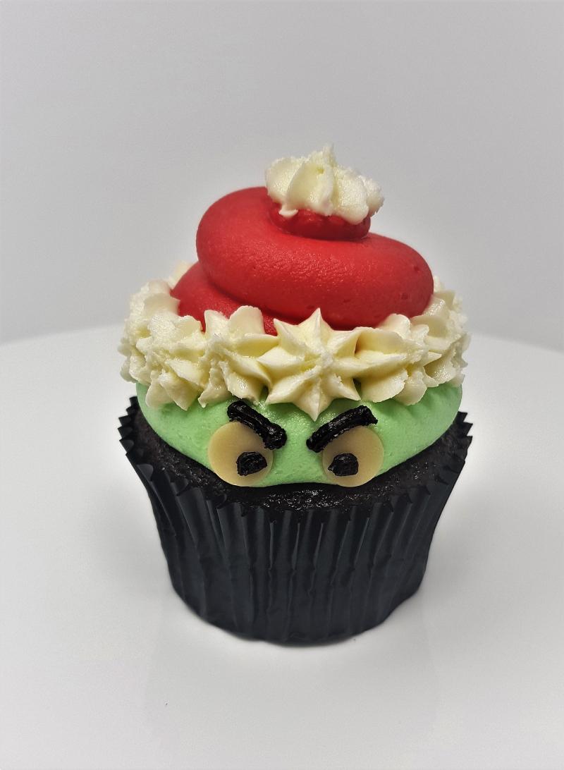Ms. Cupcake Grinch Cupcake