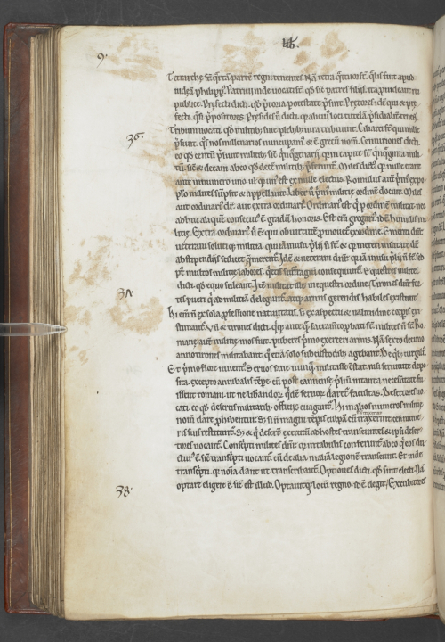Medieval manuscript with cat's pawprints on it