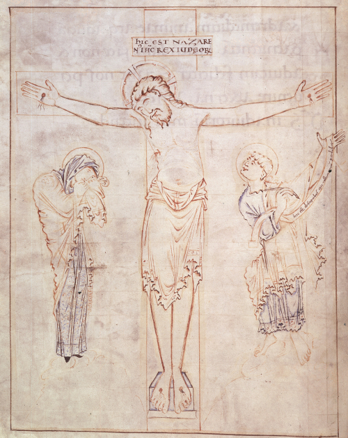 Miniature of the Crucifixion from the Ramsey Psalter